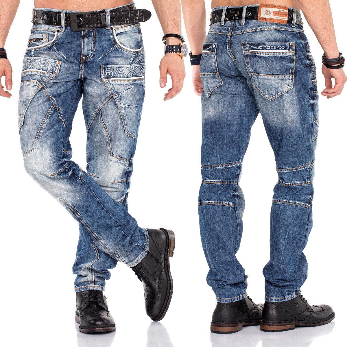 Shelly Baxx Jeans Uomo CD391 Regular Fit con o senza Cintura