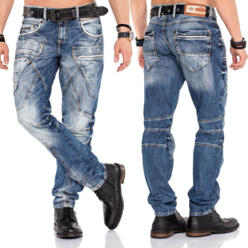 Cipo /& Baxx Uomo Jeans cd391 regular fit con o senza cintura