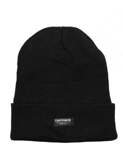 New Unisex Adult Thermal Insulated 40 Gram Fleece Lined Warm Knitted Beanie Hat