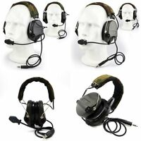 Noise Cancelling Sordin Tactical Radio Headset For Paintball Airsoft Hunting