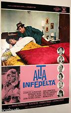 fotobusta film ALTA INFEDELTA' Michele Mercier Ugo Tognazzi Mario Monicelli 1964