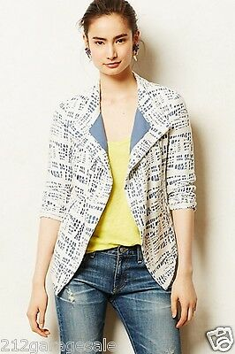 NEW Anthropologie By The Addison Story_Rinsed Indigo Jacket  Size Small S