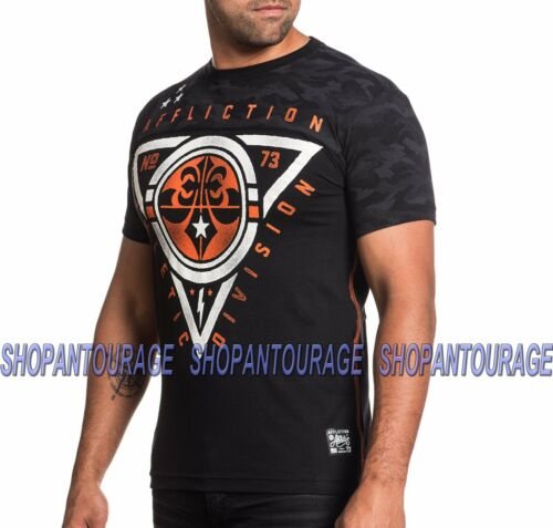 Affliction Athletic Division AS15766 New Short Sleeve Sport T-shirt Top for Men