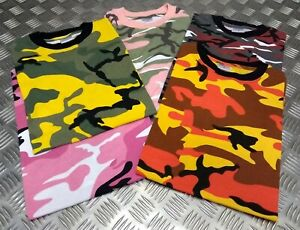 100-Cotton-Military-Spec-T-Shirts-Various-Bright-Summer-Camo-039-s-All-Sizes-NEW
