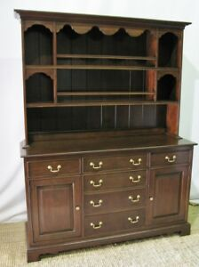 Harden Furniture Chippendale Style Cherry Buffet Hutch Excellent