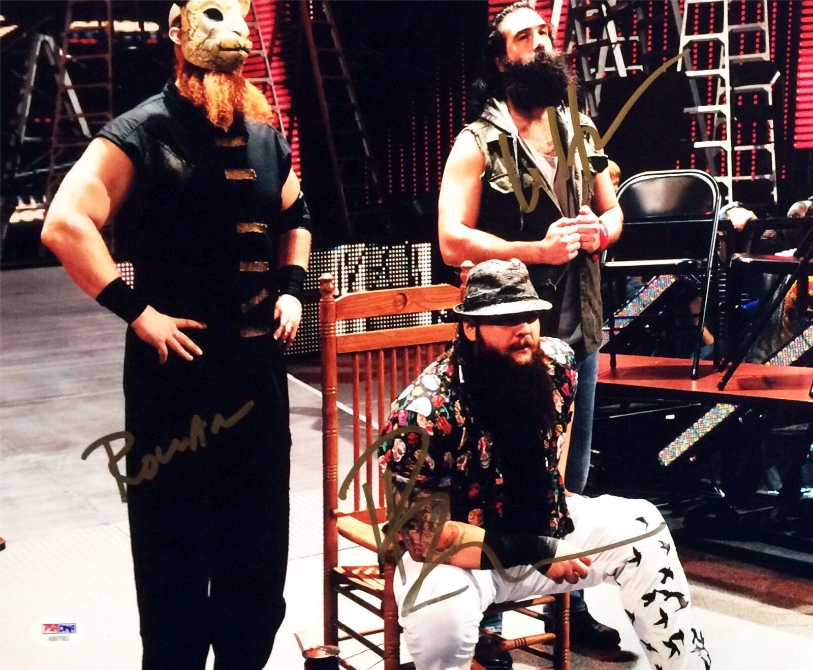 Bray Wyatt Luke Harper Erick Ronan Signed Autographed 11x14 Photo PSA AB07062