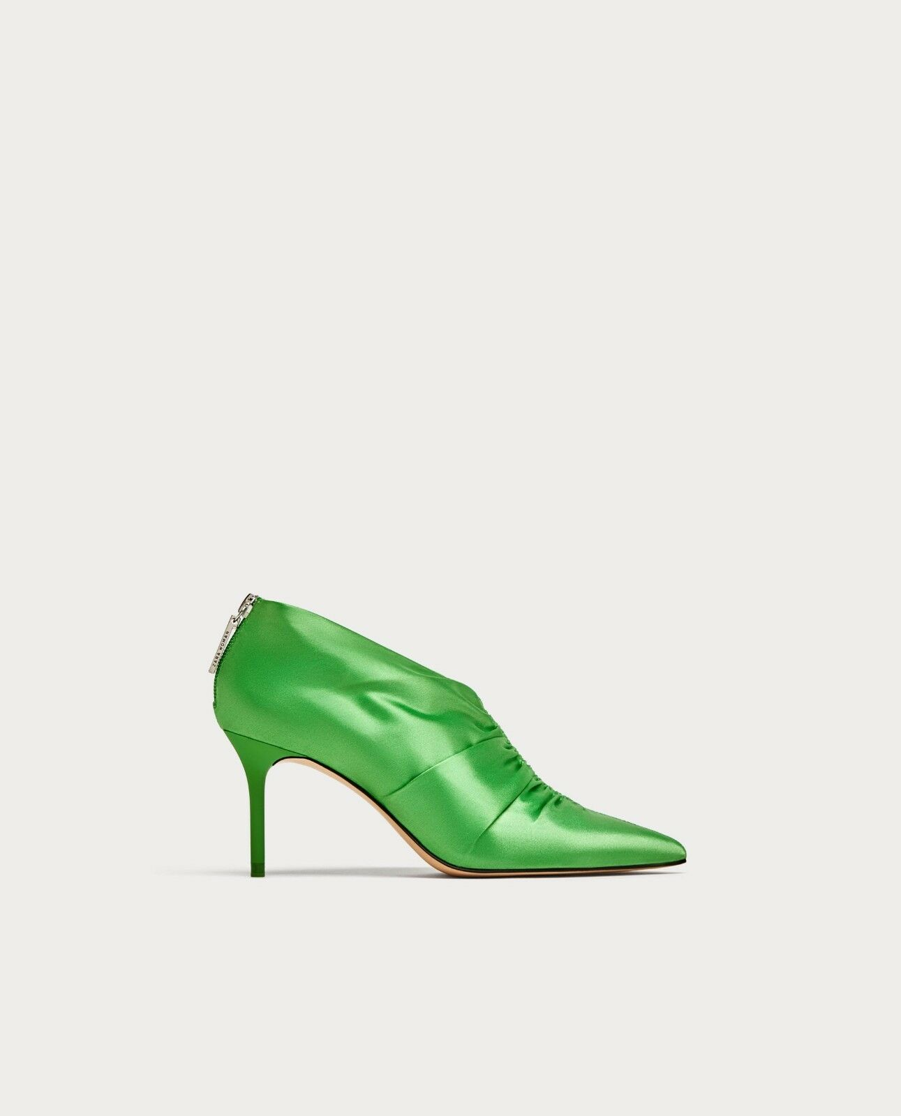 ZARA NEW HIGH HEEL ANKLE Stiefel WITH WITH WITH GATHEROT DETAIL GREEN 5120/201 984aba