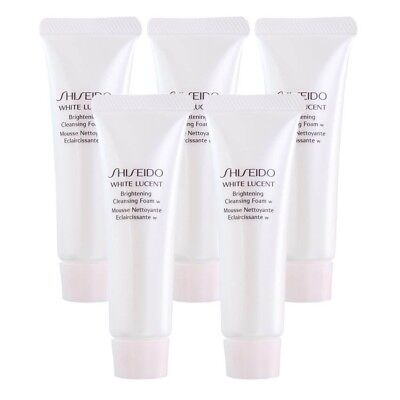 Shiseido White Lucent Brightening Cleansing Foam 1.1oz x 5 Lot, 5.5oz Total, New
