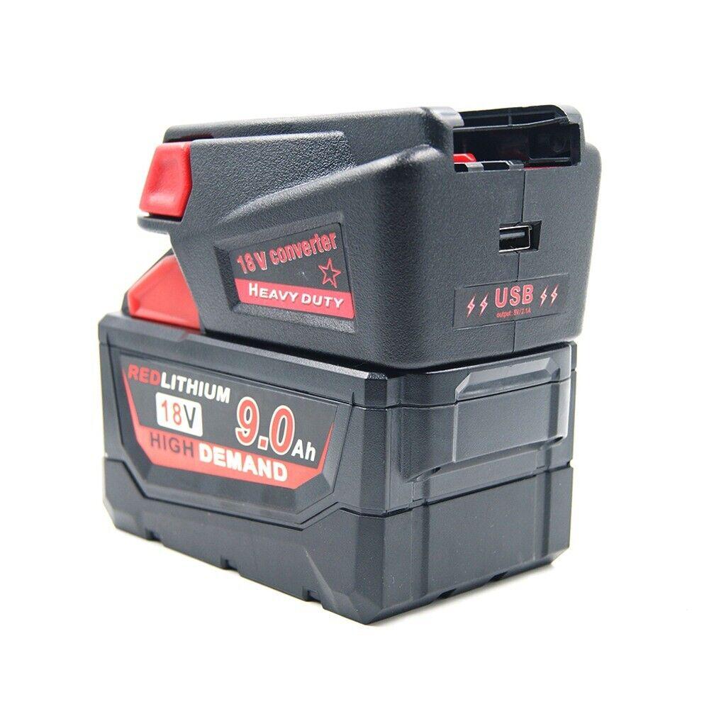 1x Plastic 18V Adapter Converter for Milwaukee M18 Li-ion Battery to V18 Battery