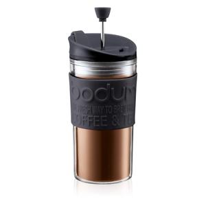 Bodum Travel Press Vacuum Acrylic Travel Mug / Cafetiere - 0.35L Black