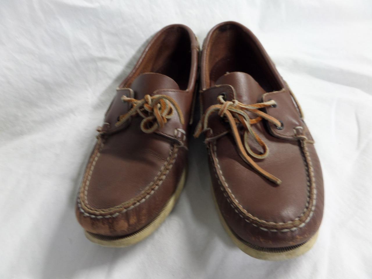sconto online di vendita Vintage BROOKS BROOKS BROOKS BROTHERS Boat scarpe 10 D Marrone Top Sider Speery  prendi l'ultimo