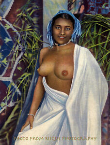 Nude-Moroccan-Woman-8-5x11-034-Photo-Print-French-Postcard-N-Africa-Naked-Female