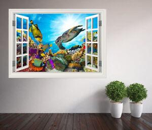 Stunning-underwater-coral-reef-fish-turtle-window-wall-sticker-44151192ww