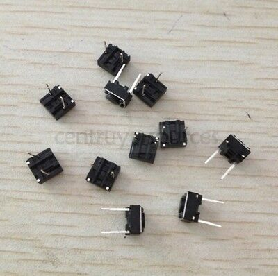 50Pcs Momentary Tactile Tact Push Button Switch 2 Pin DIP 6x6x4.3mm High 4.3mm