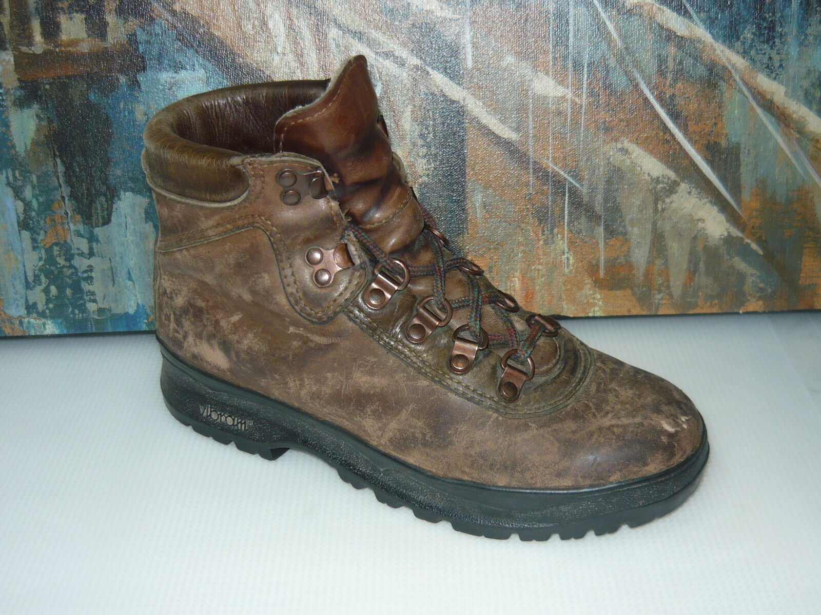 Danner bspringaaa läder & Gore Tex Fabric Eddie Bauer Hiking stövlar kvinnor S8.5M