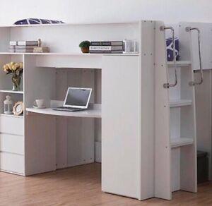 King-Single-Loft-bunk-with-loads-of-storage-bottom-desk-New-Design-Kids-New