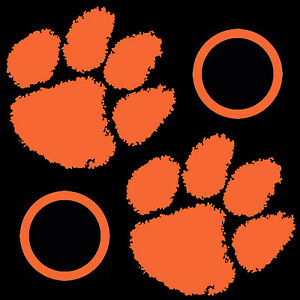 Clemson University Tigers Large 14 inch Cornhole Decals / Set of 2 Stickers