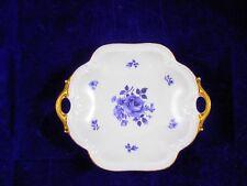 Konfektschale ca. 22 x 19 cm Porzellan von Retsch, Wunsiedel, Motiv blaue Rose