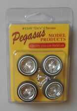 DZ's CHROME RIMS WHITEWALL TIRES PEGASUS 1:24 1:25 CAR MODEL ACCESSORY 1109