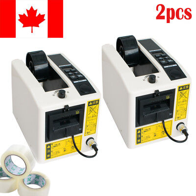 2PCS Electric Automatic Tape Dispensers Adhesive Cutter Packaging Width 7-50mm