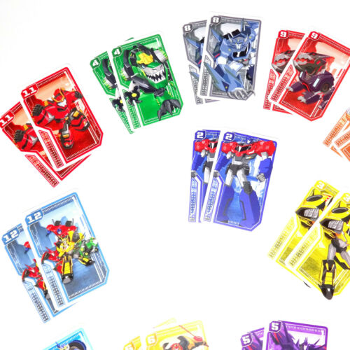 Black Peter and Memo playing cards for kids Transformers