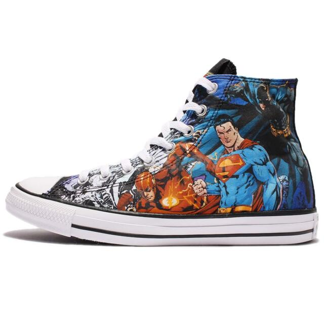 143bb4abb30863 Converse DC Comics Justice League Chuck Taylor All Star SNEAKERS Superman  Batman 5