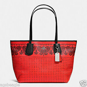 Coach-Bag-F36357-Taxi-Zip-Top-Tote-Crossgrain-Leather-Dark-Bandit-Agsbeagle-COD