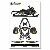 2013-2014 Ski Doo Xm Snowmobile Graphics Rockstar Style By Enjoy Mfg / 120 Track