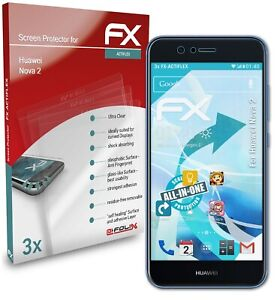 atFoliX 3x Lámina Protectora para Huawei Nova 2 transparente&flexible