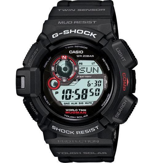 Casio G-Shock MUDMAN Mud Resistant Digital Mens Black Watch G-9300-1 G-9300-1DR