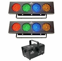 Chauvet Hurricane H700 H-700 Fog/smoke Machine + 2) Dj Bank Led Rgba Wash Lights