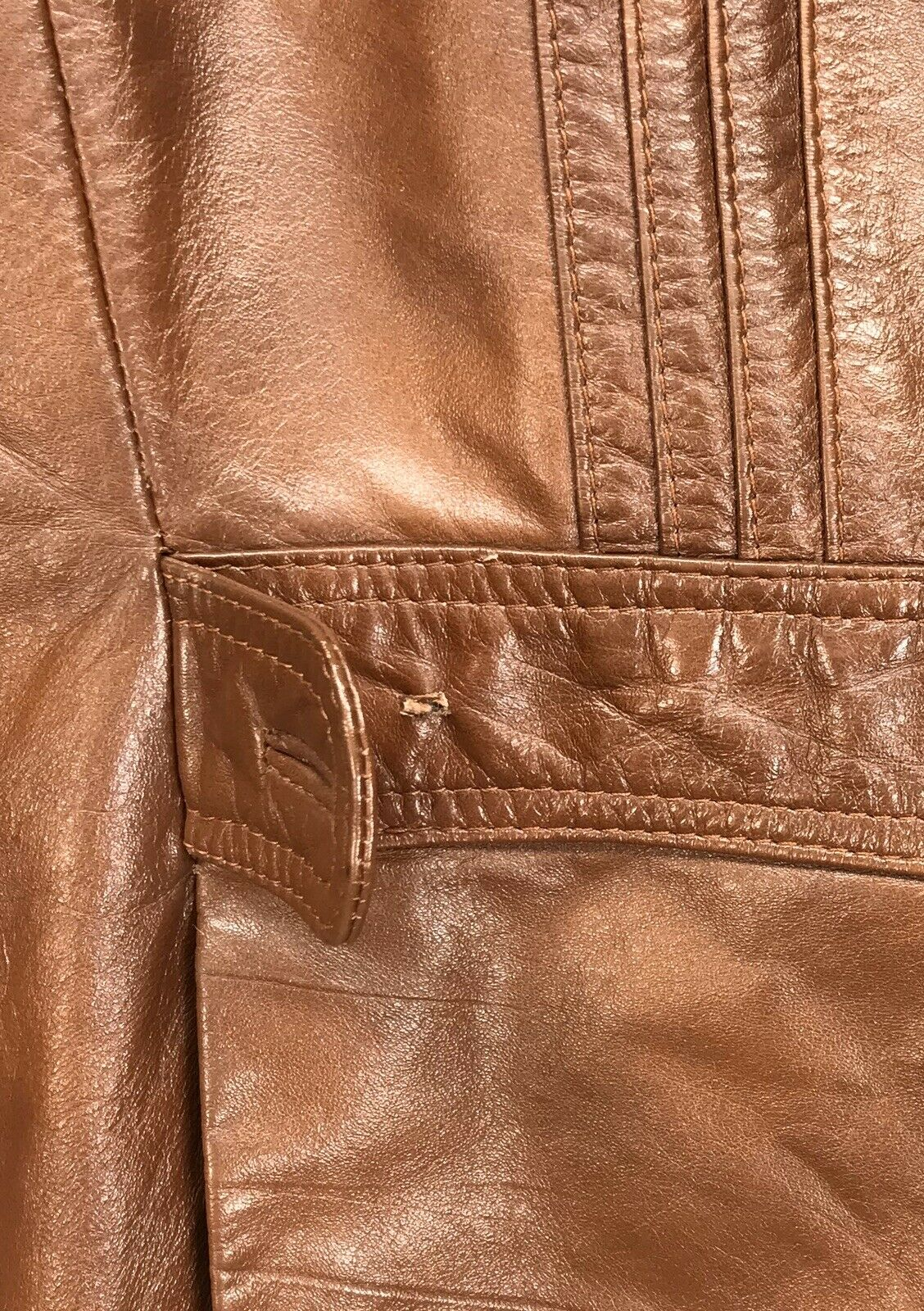 Mens 42 Vintage Lance Limited Classic 1970s Brown… - image 7