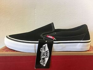 398af5721d Image is loading Vans-Slip-Ons-Pro-Black-White-Gum