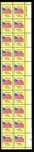 1994-Old-Glory-Sc-2880-red-G-Rate-20c-postcard-rate-MNH-plate-strip-LR