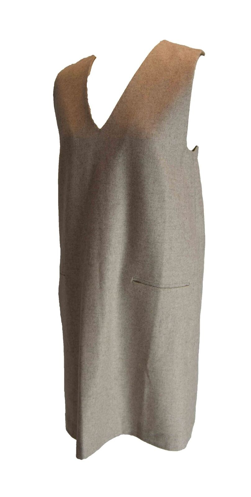 SET Fashion Beige Wool Dress, US 6