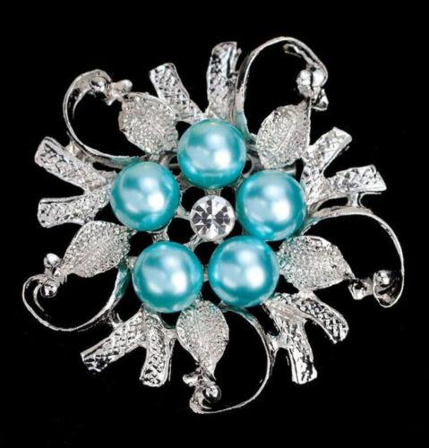 Pearl Crystal Broche Bouton À faire soi-même Mariage Bouquet Femmes Lady Jewelry New