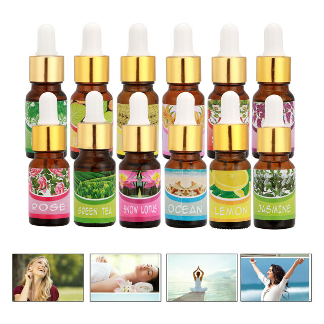 12 Scent 10ML Certified Organic Essential Oil 100% Natural Aromatherapy