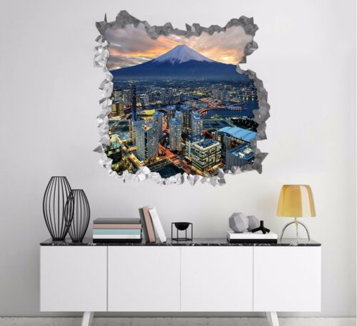 3D Sky City 637 Wall Murals Stickers Decal breakthrough AJ WALLPAPER AU Lemon