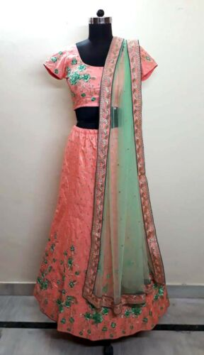 Indian Style Vintage Bridal Set Silk Embroidery Wo