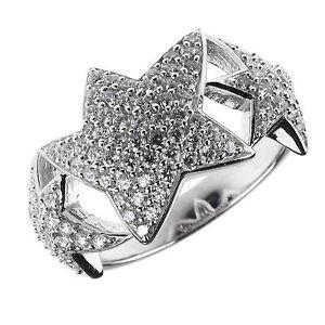Entourage-Ring-echt-Silber-925-Sterling-rhodiniert-mit-Zirkonia-Sterne-weiss