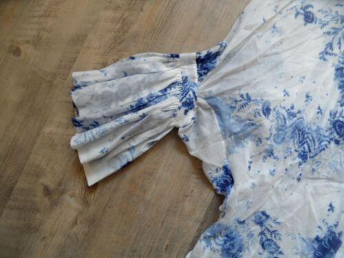 Shogun Poncho nouveaux Style Beautiful 2 joe Bleu Blanc Volants Kos817 M Paul Sz Blouse g01axHqn