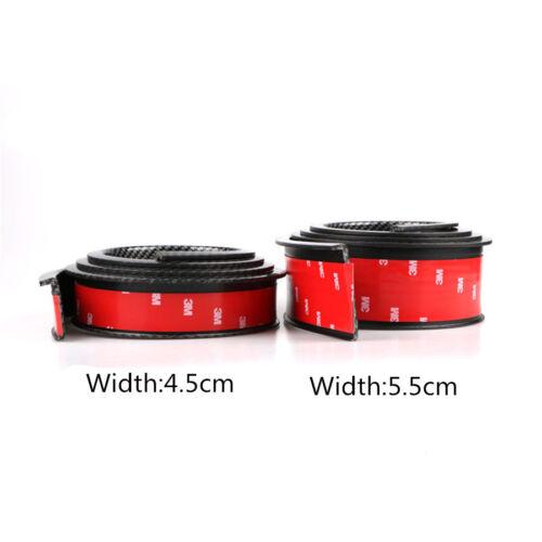 1 par 5.5 cm Fibra de Carbono Negra ampliación Color Coche Ruedas de cejas Protector 1.5 M
