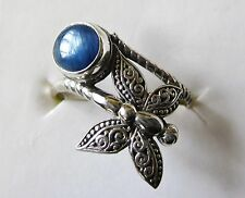 Kyanite & Butterfly Bypass Ring in Sterling Silver, size 6 --- 2.12 cts