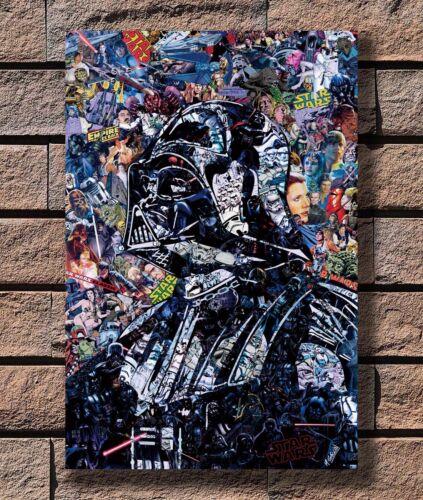 Darth Vader Star Wars Movie Poster Fabric 8x12 20x30 24x36 E-831