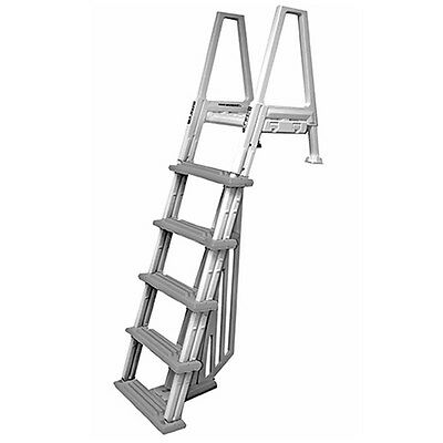 Confer Heavy-Duty Above-Ground Swimming Pool Ladder 46-56 Inches,  Beige/Gray | eBay