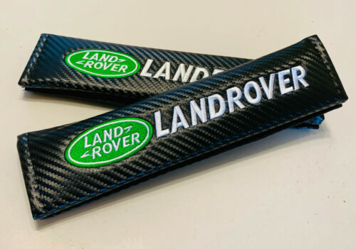2x carbon fibre car seat belt pads for LAND ROVER RANGE ROVER UK stock