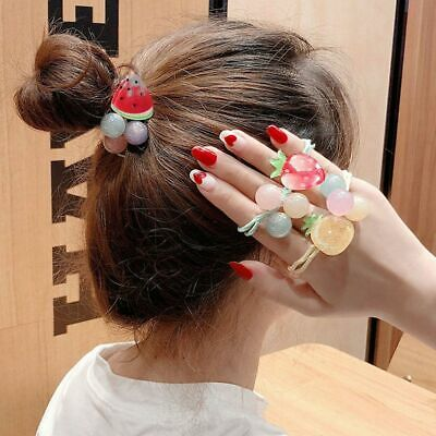 Flower Hair Ropes Women Rubber Hair Ties Ponytail Holder Hair Bands Fashion