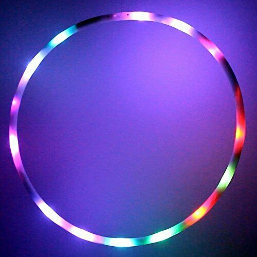 Hoopomania MINI LED Hula Hoop Pneumatici con 20 luci, 7 Coloreeei, ø60cm