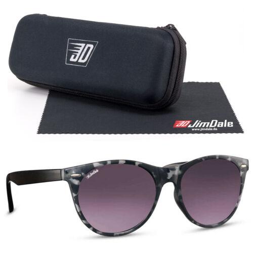 Jim Dale Damen Sonnenbrille Schwarz Transparent getönt UV400 Markenbrille