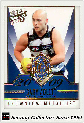 2015 AFL HONOURS 2 BROWNLOW GALLERY CARD BG97 GARY ABLETT